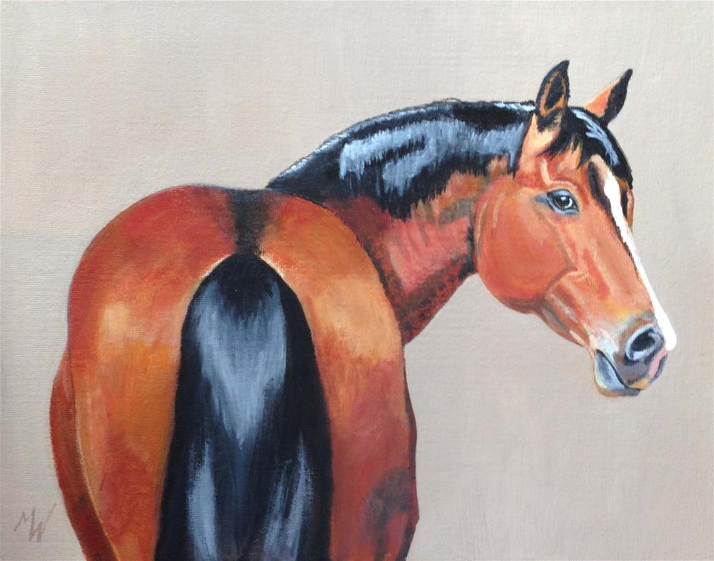 """Shiny Mare"" original fine art by Michelle Wolfe"