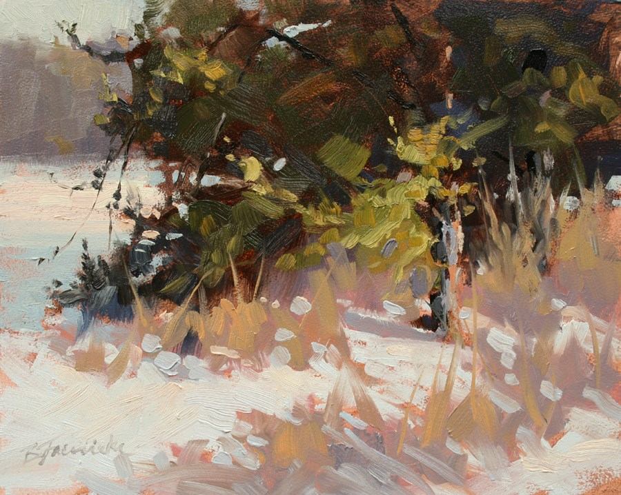 """Hiding Behind the Trees"" original fine art by Barbara Jaenicke"