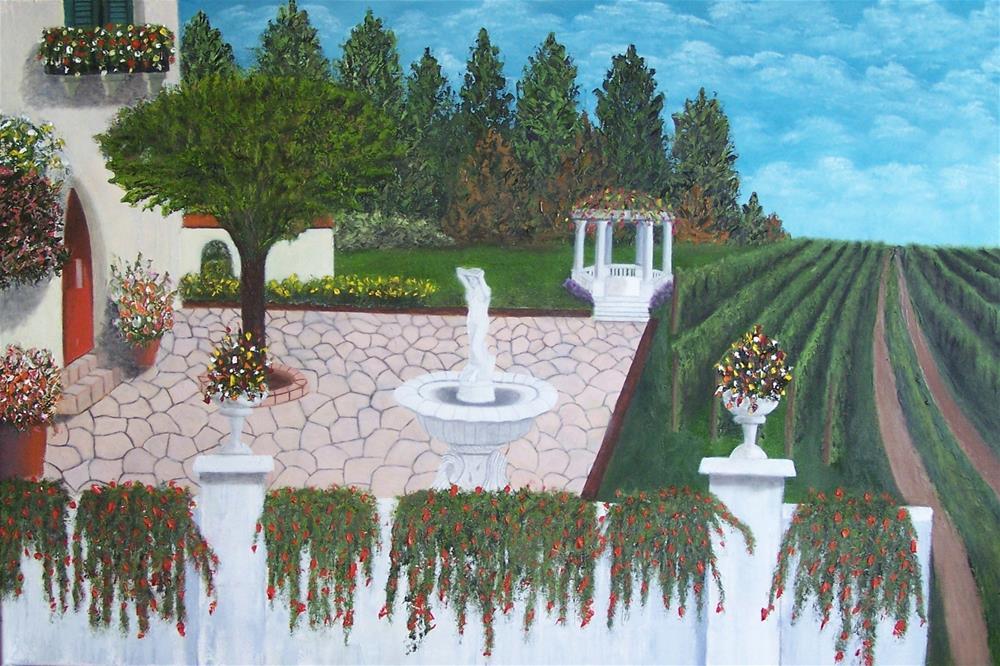 """Italian Villa"" original fine art by John Marcum"