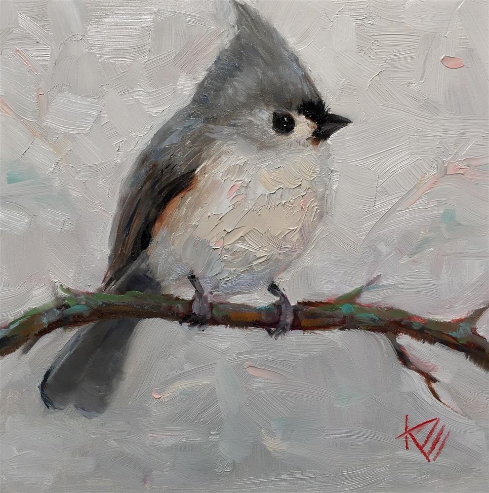 """""""Titmouse"""" original fine art by Krista Eaton"""