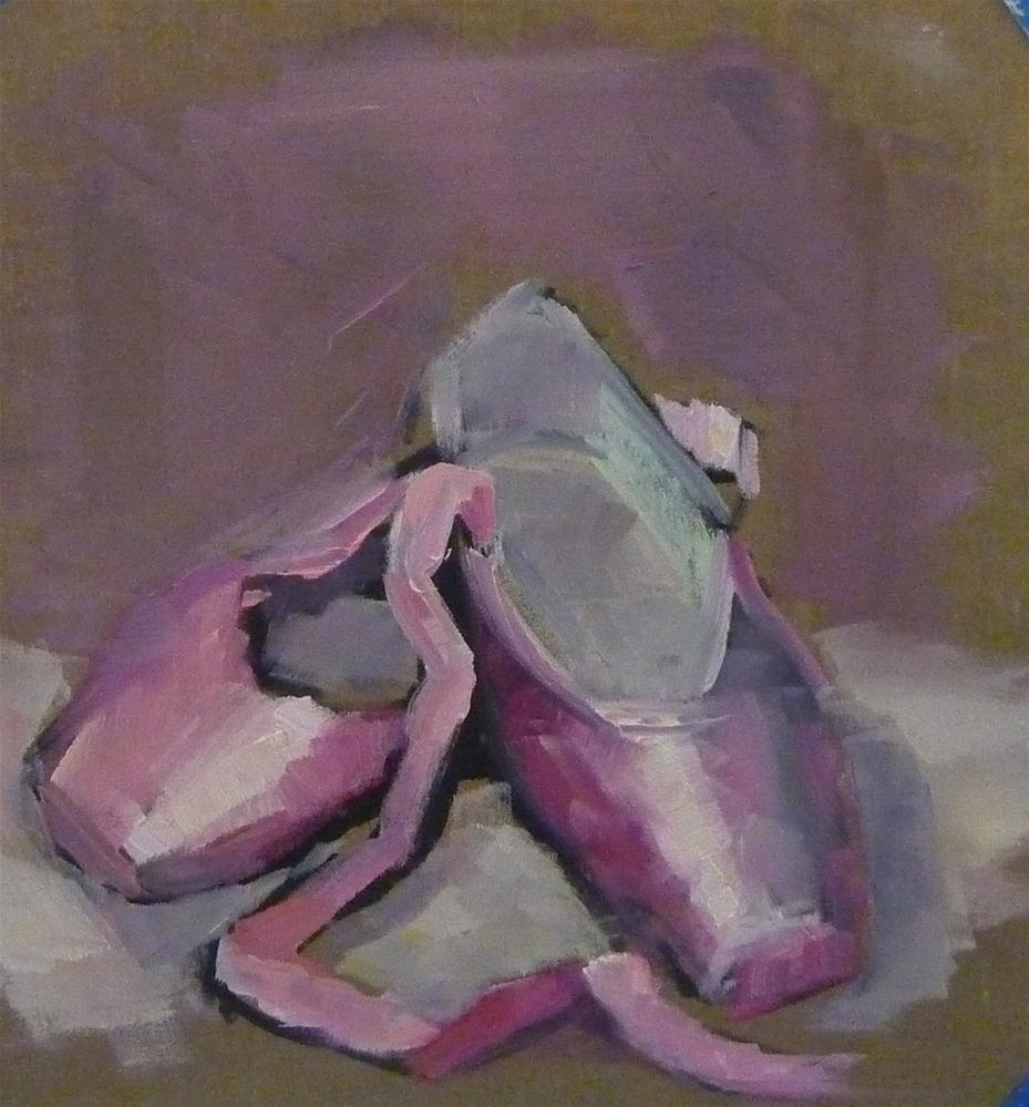 """Ballet Shoes"" original fine art by Carol Josefiak"