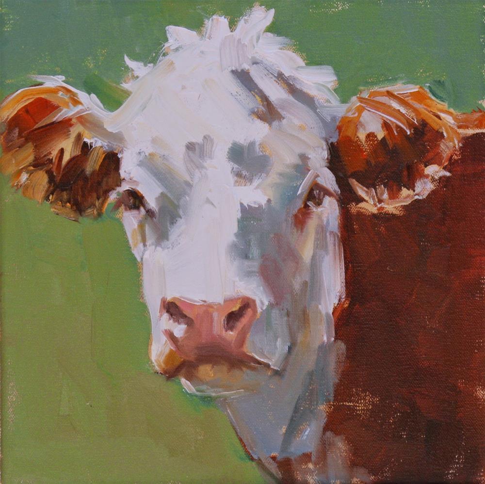 """""""hypnotic hereford"""" original fine art by Carol Carmichael"""