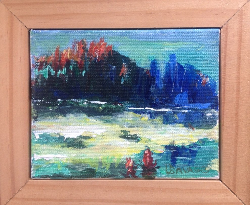 """Oh Island In The Sea"" original fine art by Judy Usavage"