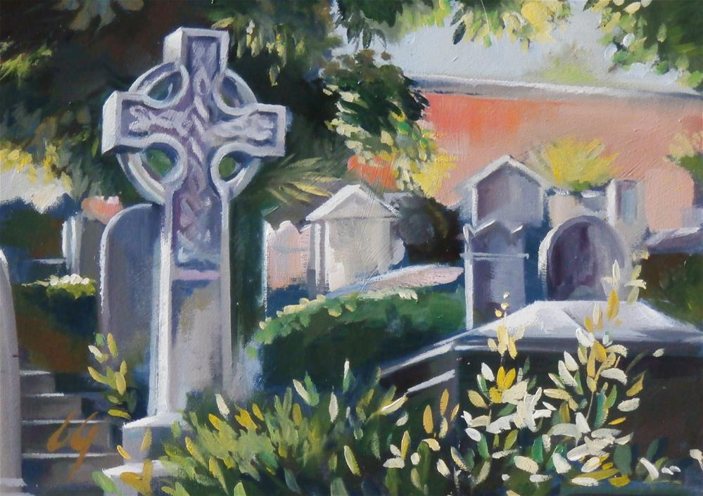 """Protestant Cemetery in Rome"" original fine art by Carla Gauthier"