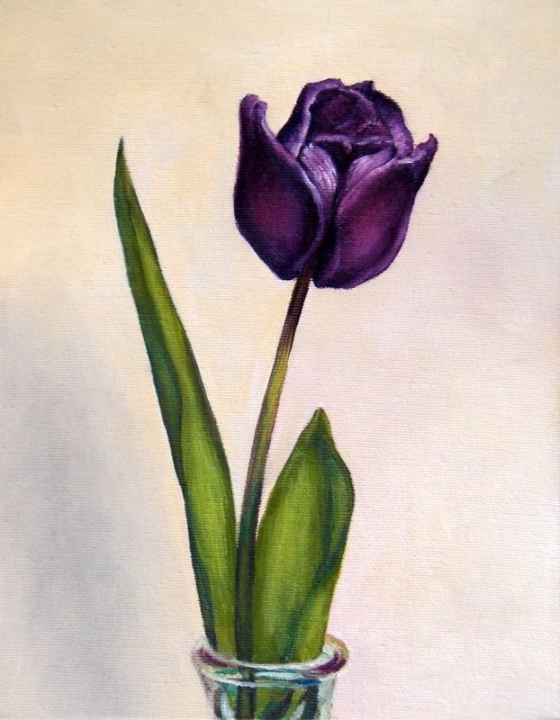 """Purple Tulip"" original fine art by Kirk Kerndl"