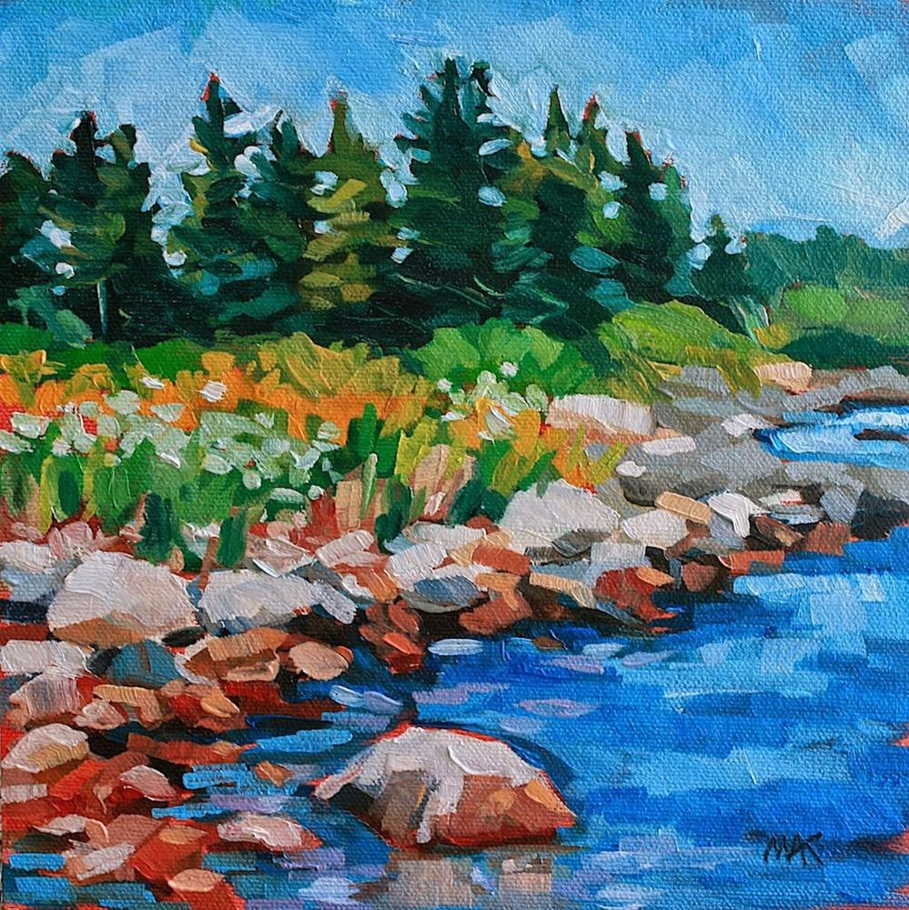 """Blue Waters"" original fine art by Mary Anne Cary"