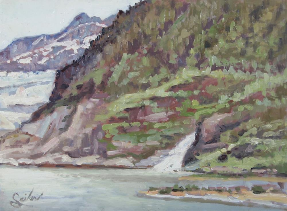 """Mendelhall Glacier"" original fine art by Larry Seiler"