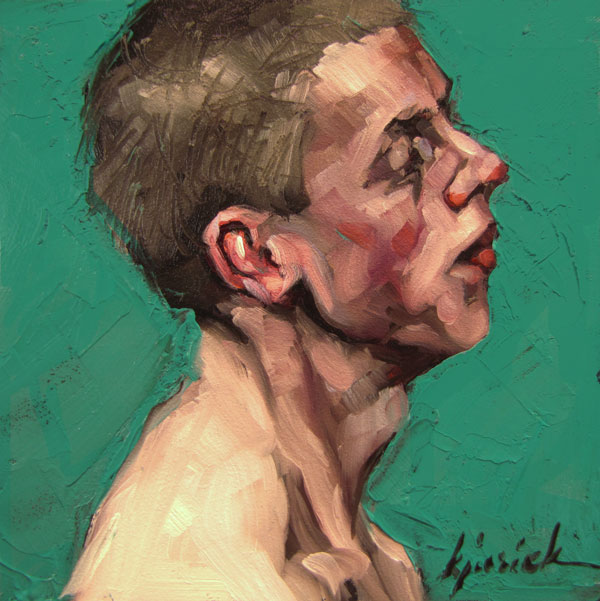 """100 Faces, No. 63"" original fine art by Karin Jurick"