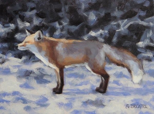 """Bask"" original fine art by Sarah Becktel"
