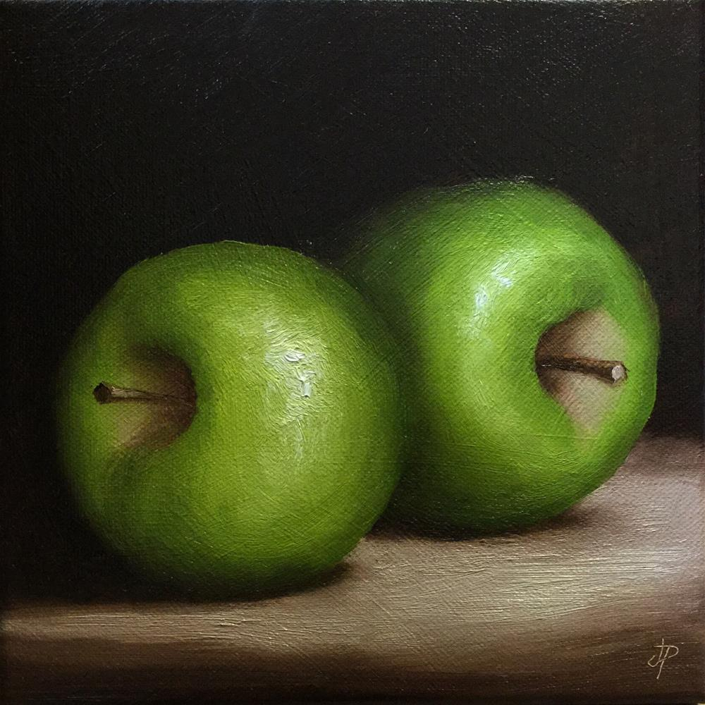 """Green Apples"" original fine art by Jane Palmer"