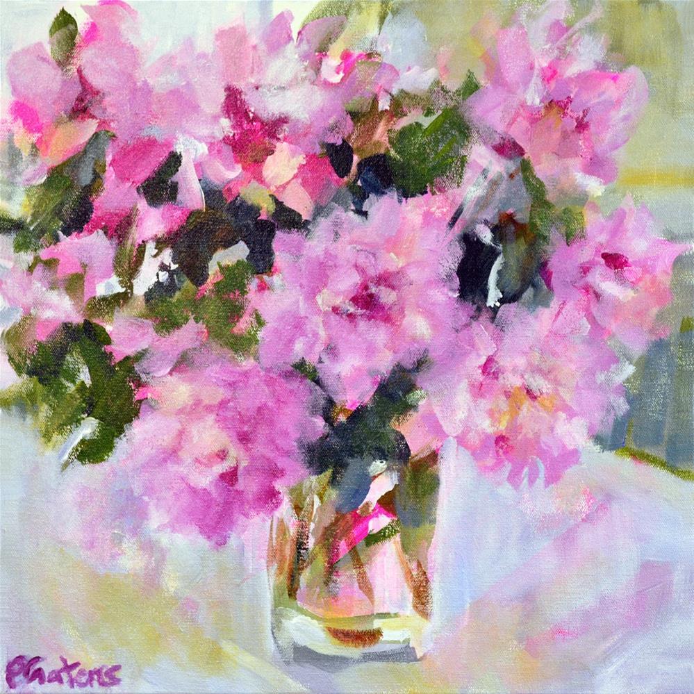 """Magenta Peonies"" original fine art by Pamela Gatens"