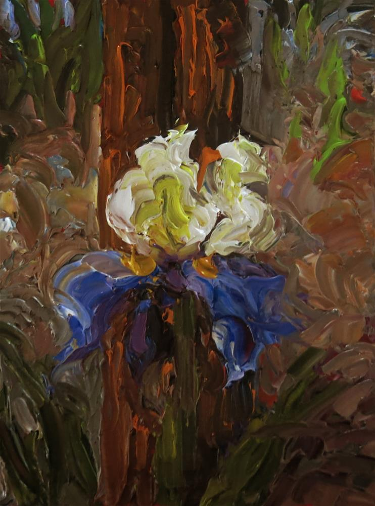 """WOODLAND IRIS"" original fine art by Dee Sanchez"