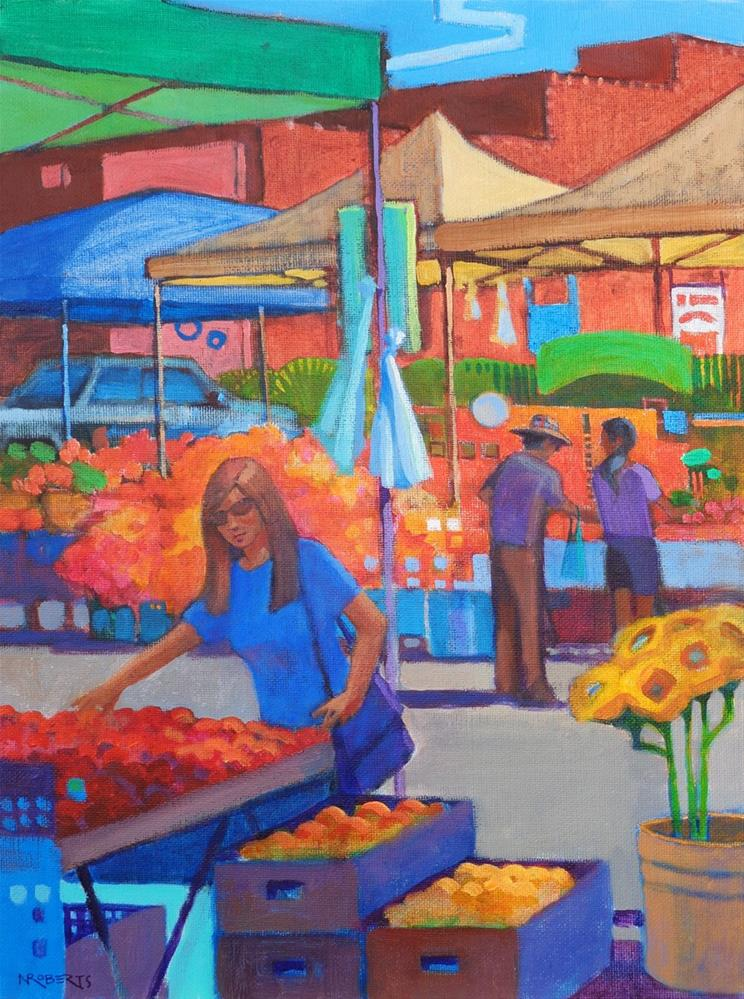 """Farm Fresh"" original fine art by Nancy Roberts"