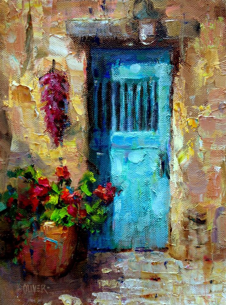 """Santa Fe Door"" original fine art by Julie Ford Oliver"
