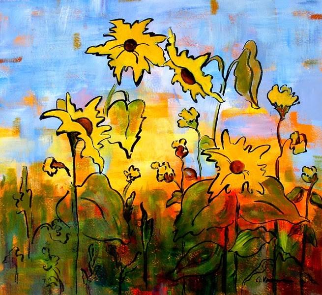 """""""Sunflower #28"""" original fine art by Anna Vreman"""