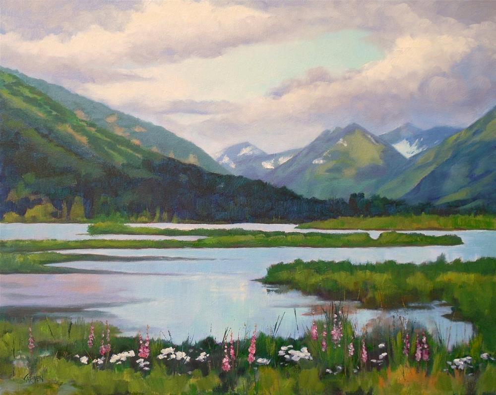 """Alaska!, 20x16 Oil on Canvas, Landscape Painting"" original fine art by Carmen Beecher"