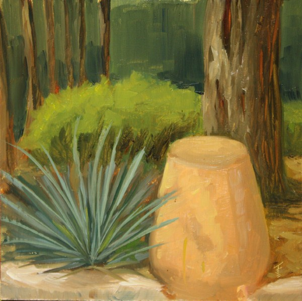 """Upturned Pot"" original fine art by Jane Frederick"