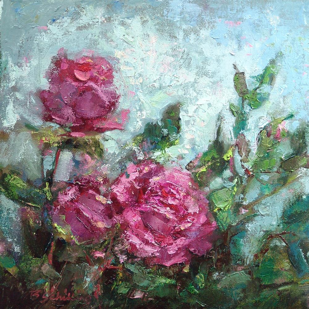 """Impressions of a Rose"" original fine art by Barbara Schilling"