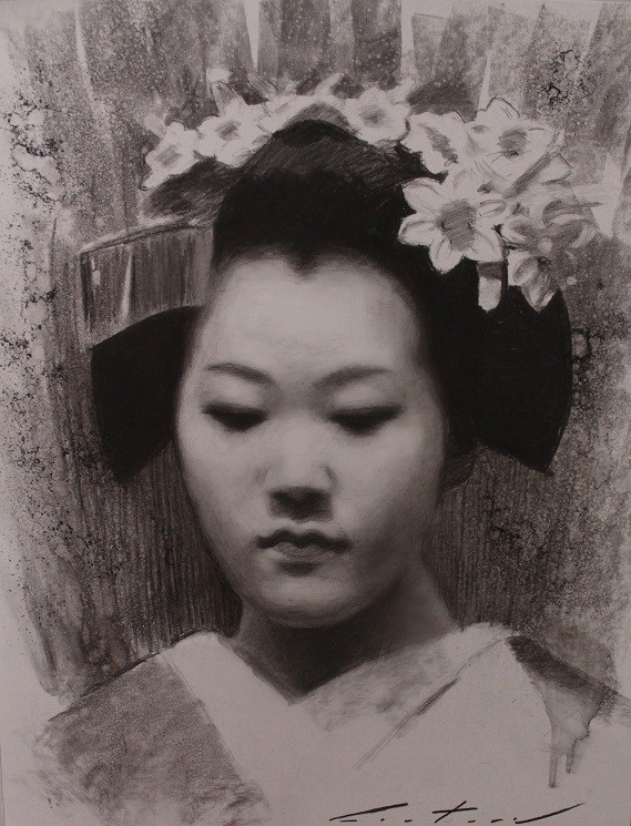 """Tomitae Charcoal Study"" original fine art by Phil Couture"