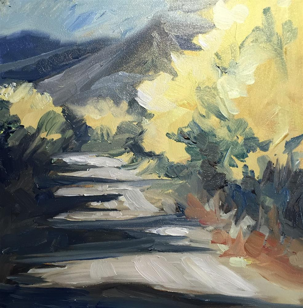 """Nevada Road"" original fine art by Sally Posner"
