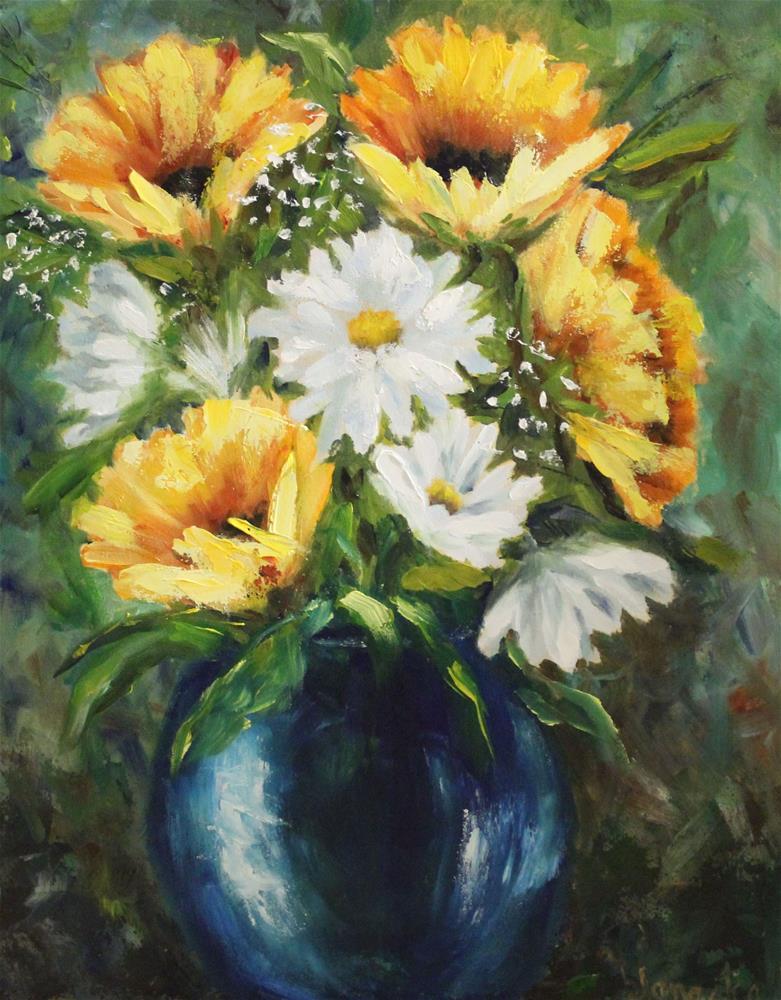 """Summer Bouquet"" original fine art by Barbara Janecka"