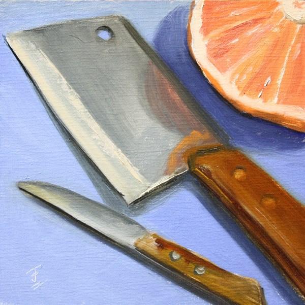 """Sharps Before Breakfast"" original fine art by Jane Frederick"