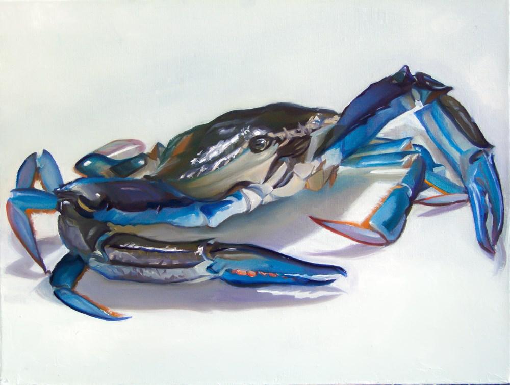 """""""Blue Swimmer"""" original fine art by James Dewing"""