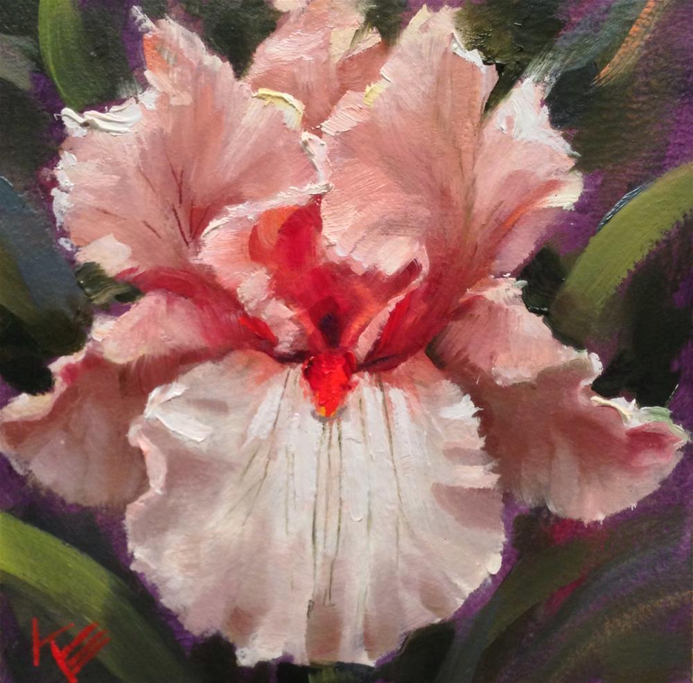 """""""Champaign Iris"""" original fine art by Krista Eaton"""