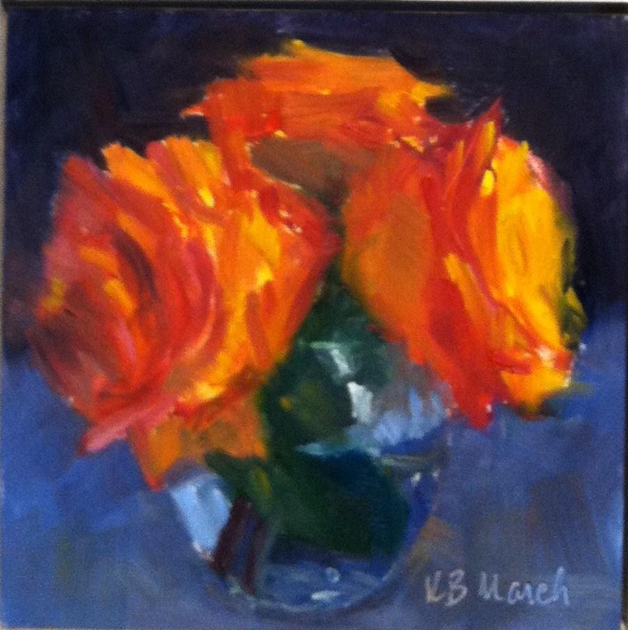 """Orange Roses"" original fine art by Katharine March"