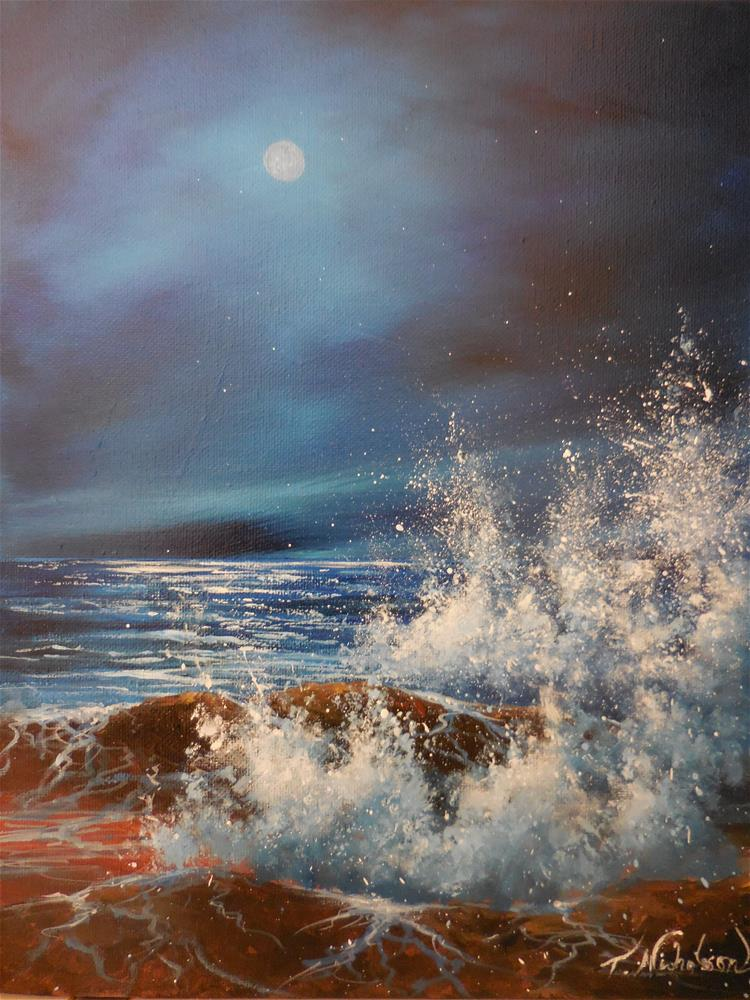 """Night Sky"" original fine art by Terri Nicholson"