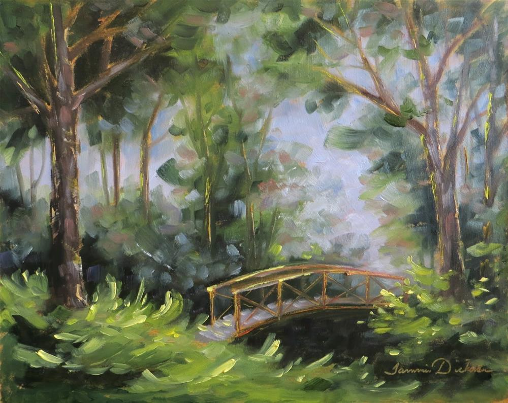"""Remembering the Footbridge"" original fine art by Tammie Dickerson"