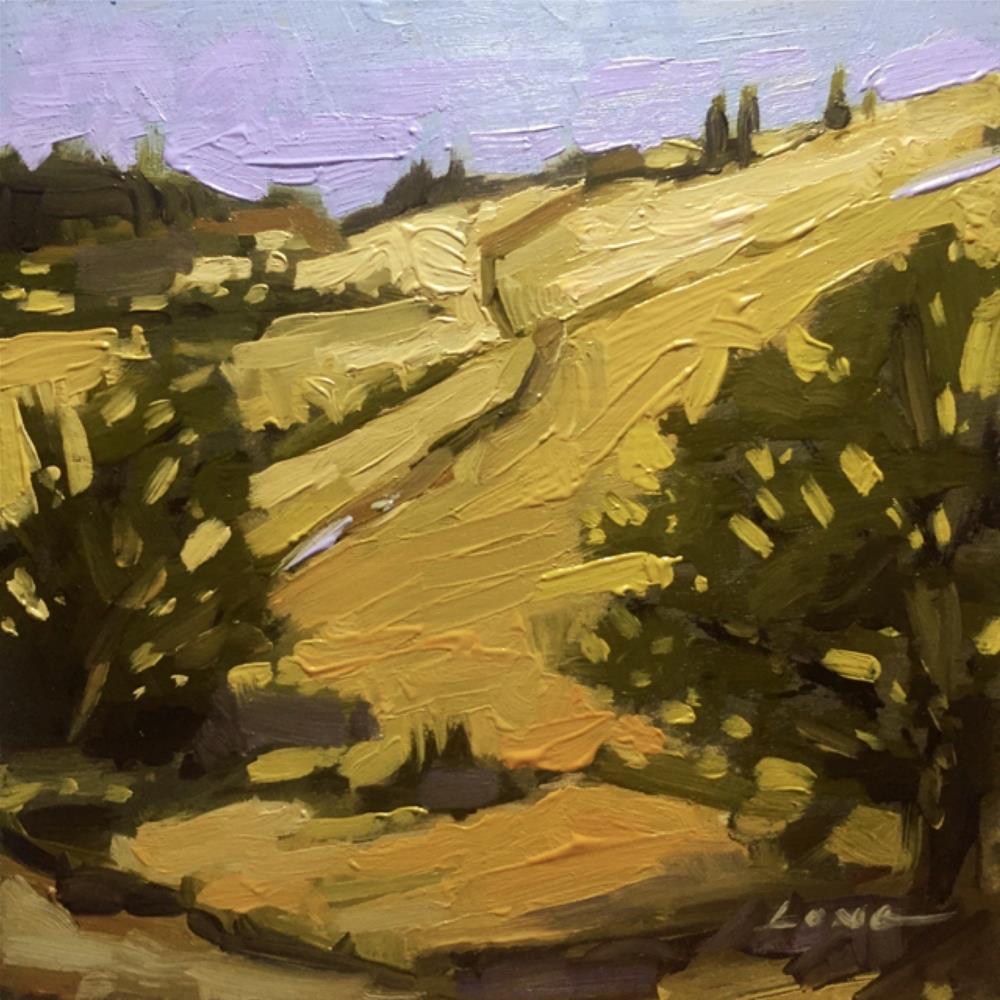 """Sonoma Hill Trail"" original fine art by Chris Long"