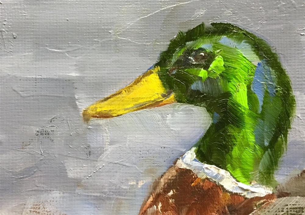 """Mallard Portrait"" original fine art by Gary Bruton"