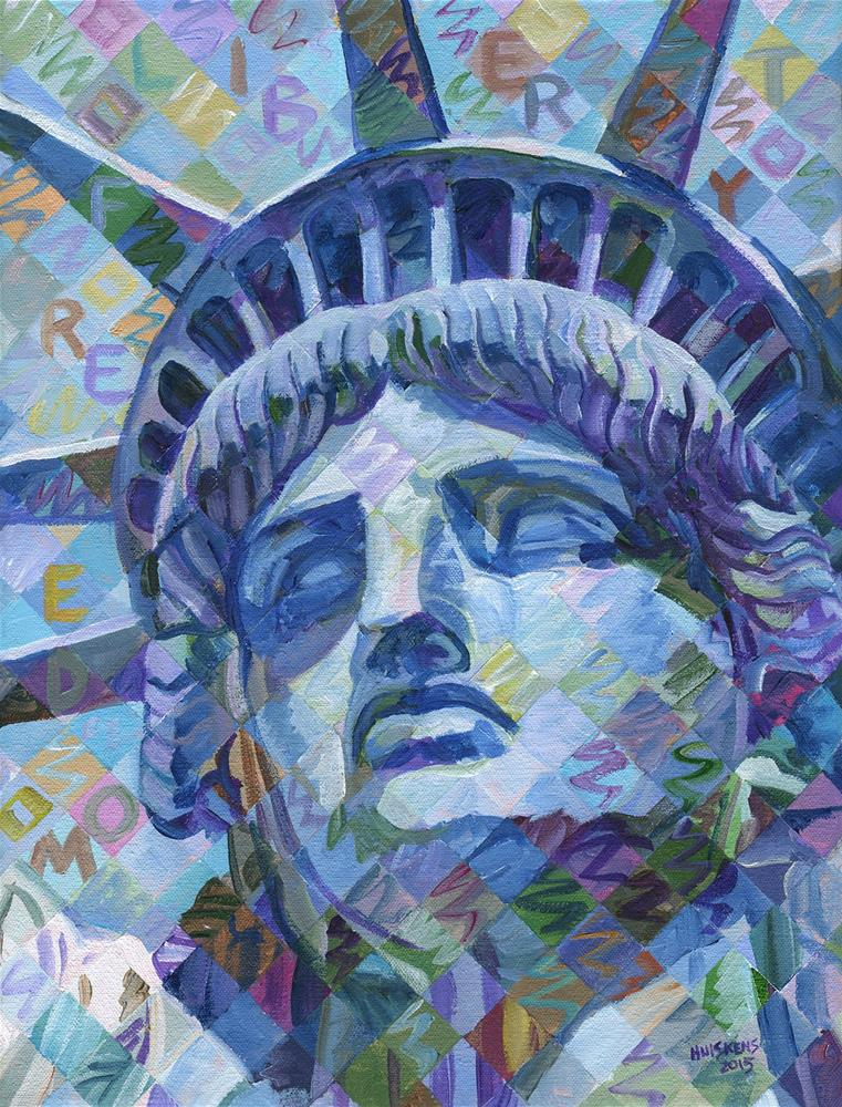 """Lady Liberty #4"" original fine art by Randal Huiskens"