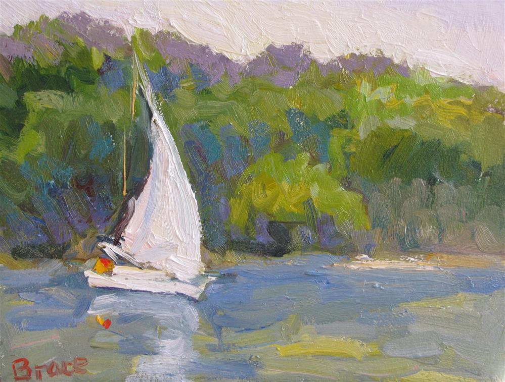 """Sailing Duxbury"" original fine art by Rita Brace"