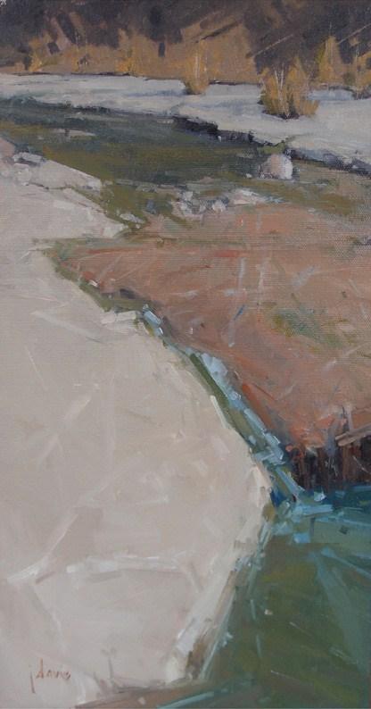 """""""Rock Bottom Creek"""" original fine art by Julie Davis"""