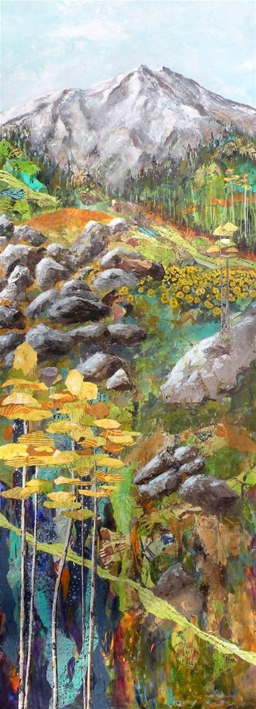 """COLORADO ORIGINAL MIXED MEDIA PAINTING OF SCENES  IN COLORADO © SAUNDRA LANE GALLOWAY"" original fine art by Saundra Lane Galloway"