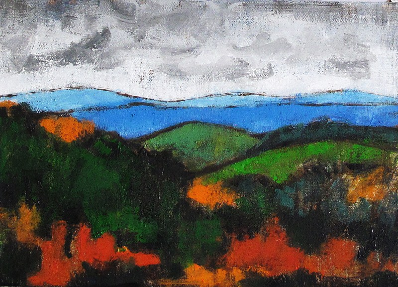 """Blue Ridge Mountains Painting"" original fine art by Kevin Inman"
