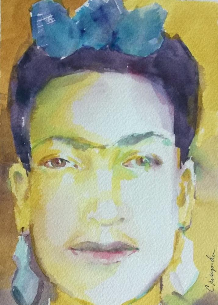 """Frida as I see her"" original fine art by Crisynda Buss"