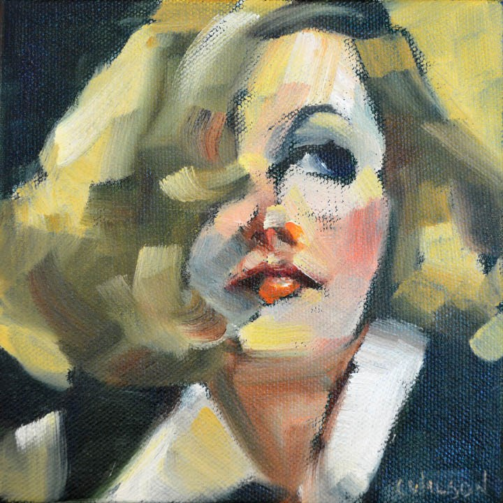 """Garbo"" original fine art by Cheryl Wilson"