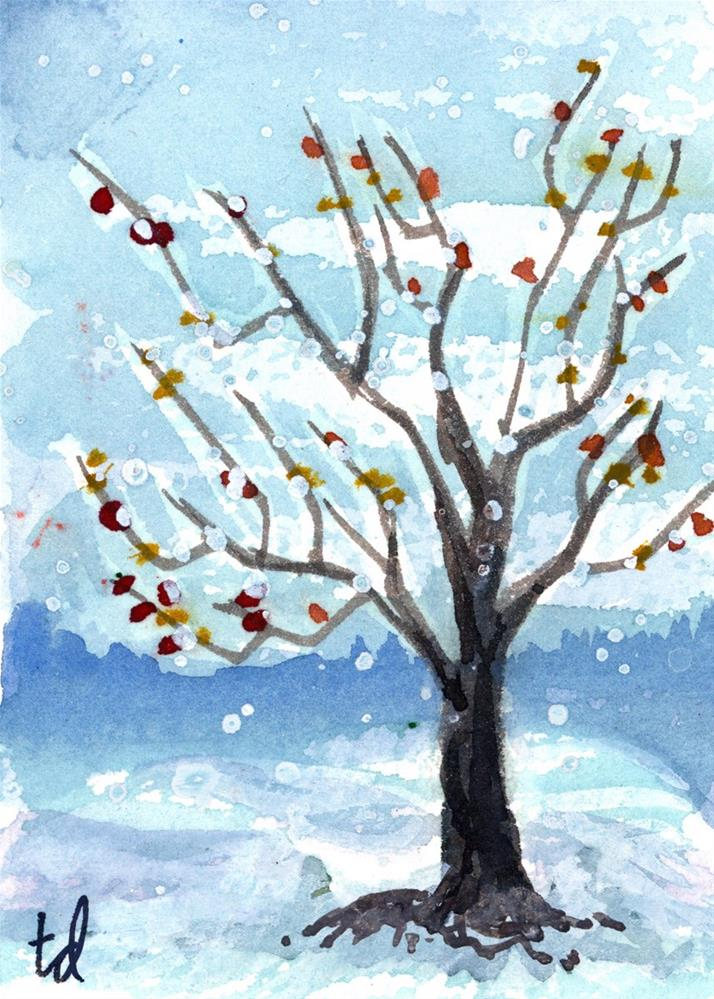 """Winter Branches"" original fine art by Tonya Doughty"
