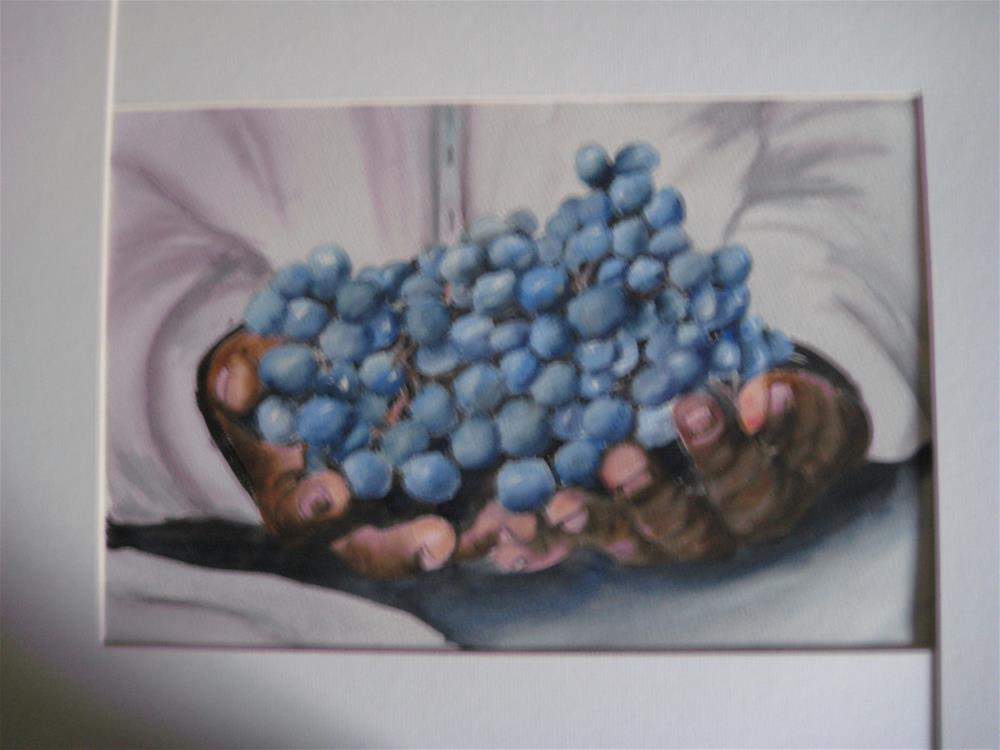 """Handful of Blueberries"" original fine art by Susan Brens"