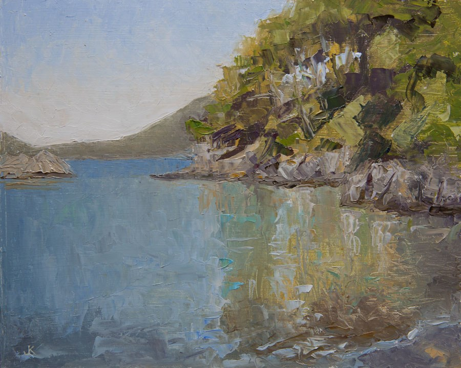 """Bay Reflections"" original fine art by Jethro Knight"