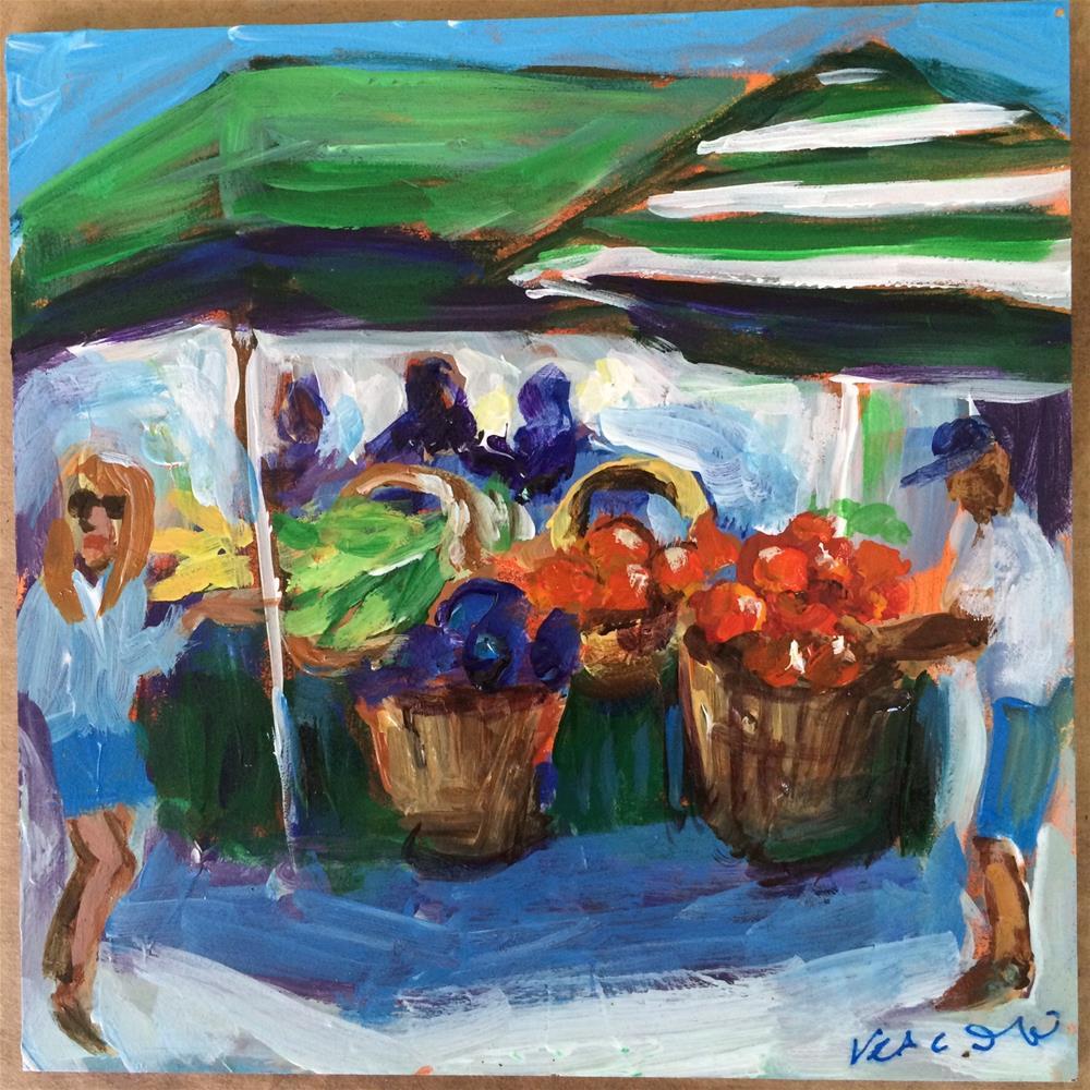 """Delray Green Market"" original fine art by Valerie Vescovi"