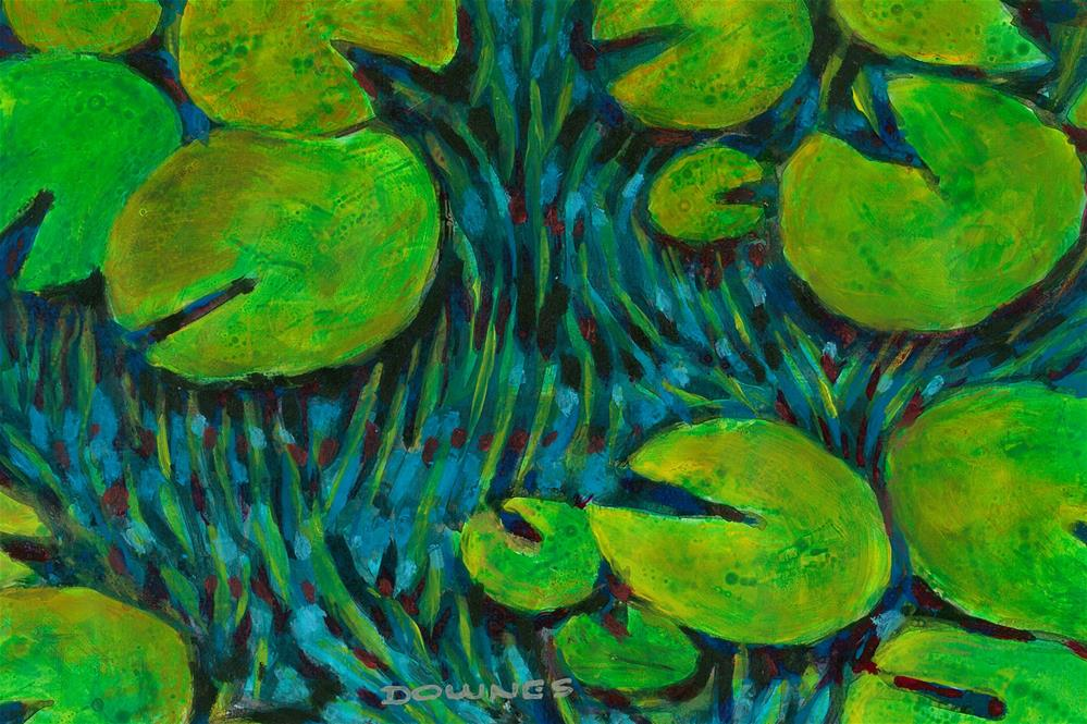 """352 WATERLILLY 10"" original fine art by Trevor Downes"