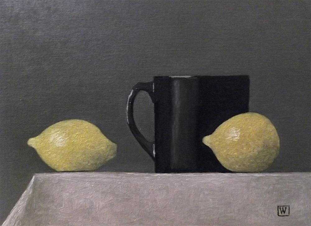 """Two lemons"" original fine art by Joe Wojdakowski"