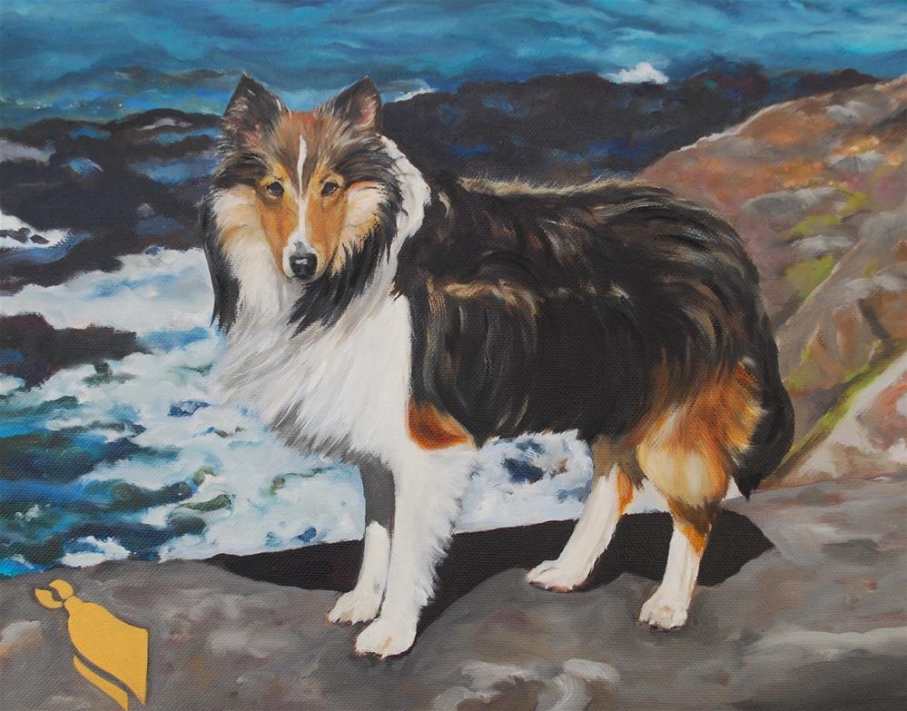 """""""Cooper"""" original fine art by Beverley Phillips"""