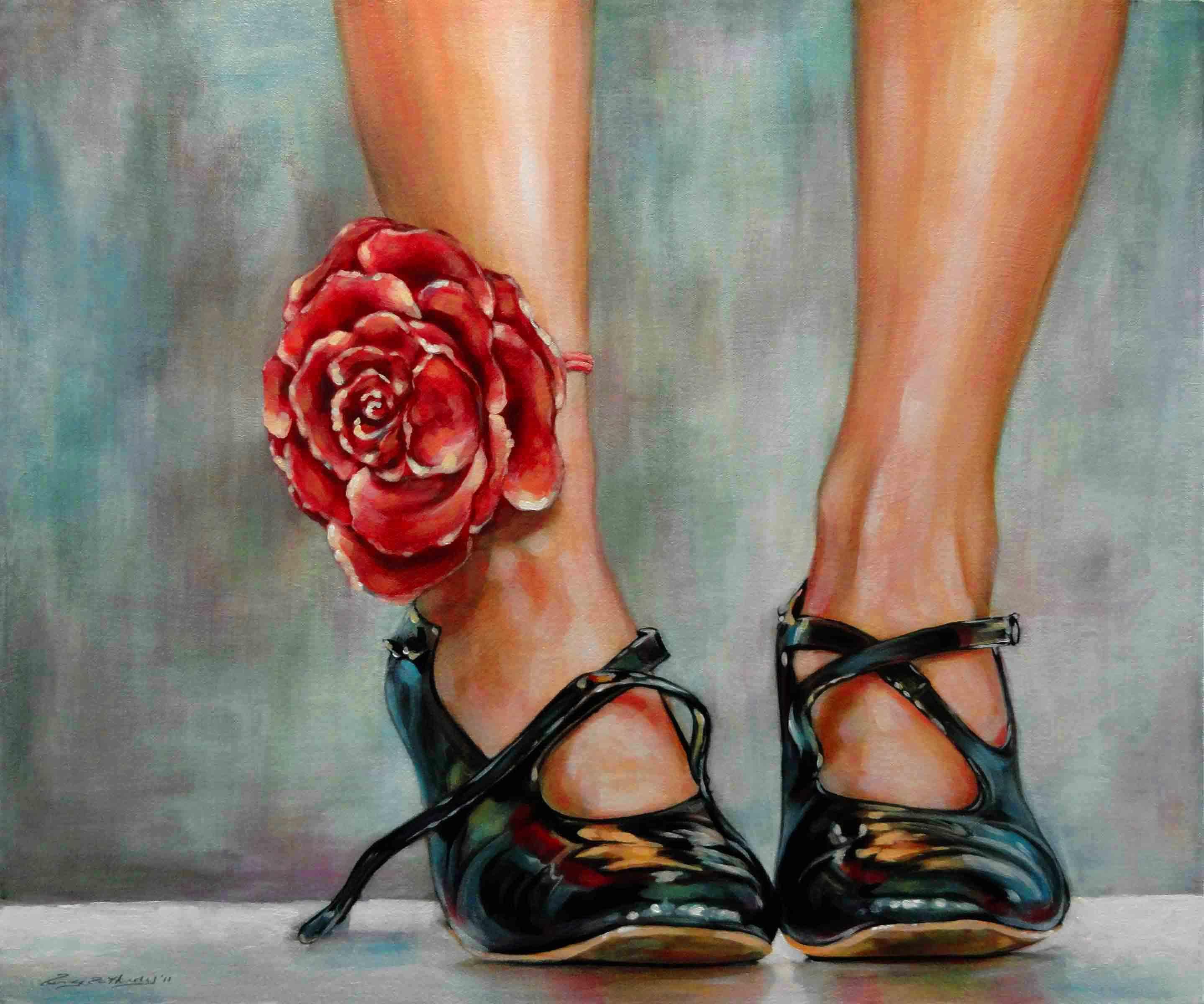 """Toe Tappin' "" original fine art by Angela Hardy"