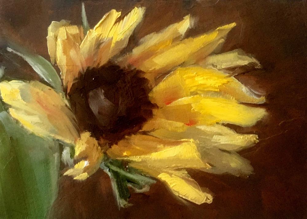 """Sunflower"" original fine art by Gary Bruton"