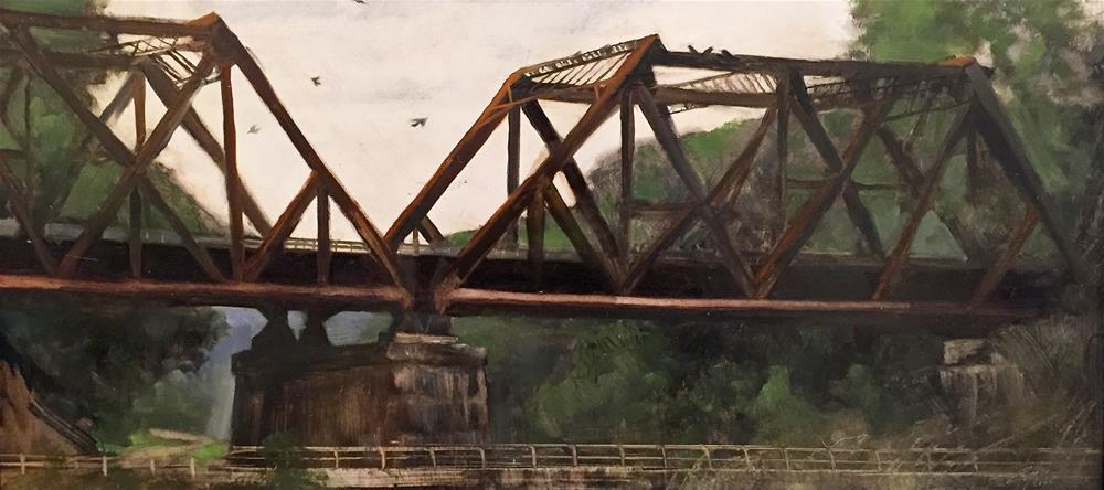 """Double Trestle Bridge"" original fine art by Beth Bathe"